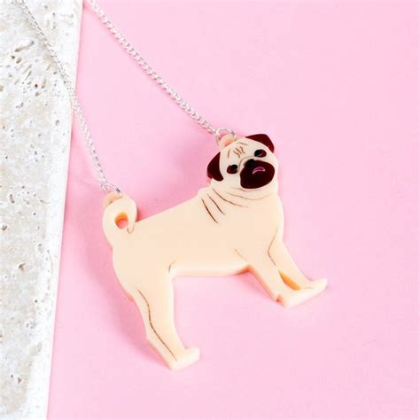 pug necklace uk pug necklace by finest imaginary notonthehighstreet