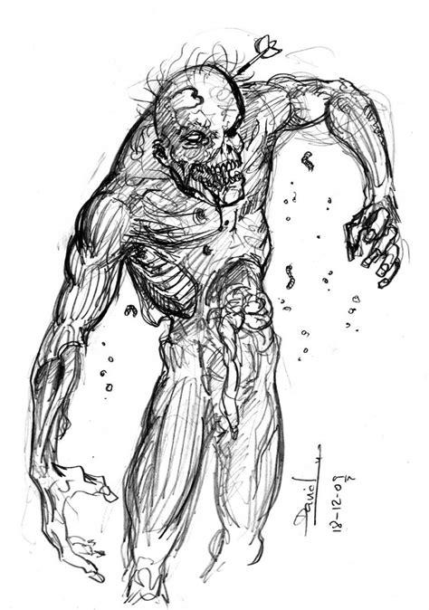 imagenes de dibujos a lapiz de zombies zombie por canson dibujando