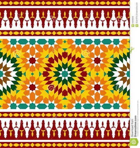 design art stara zagora zagora morocco border two stock vector image 64209030