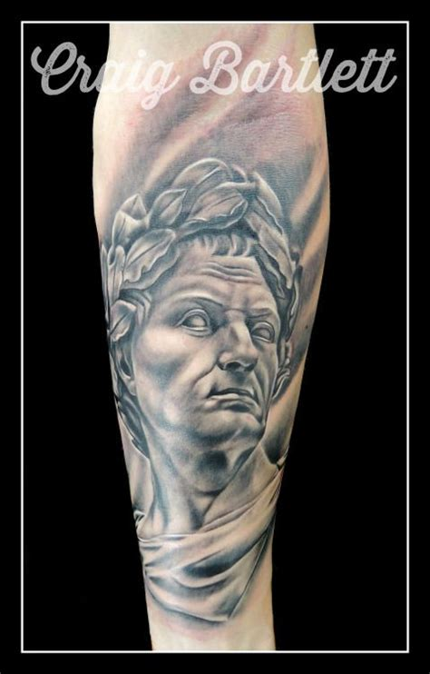 adorned tattoo julius caesar statue portrait by craig bartlett at adorned