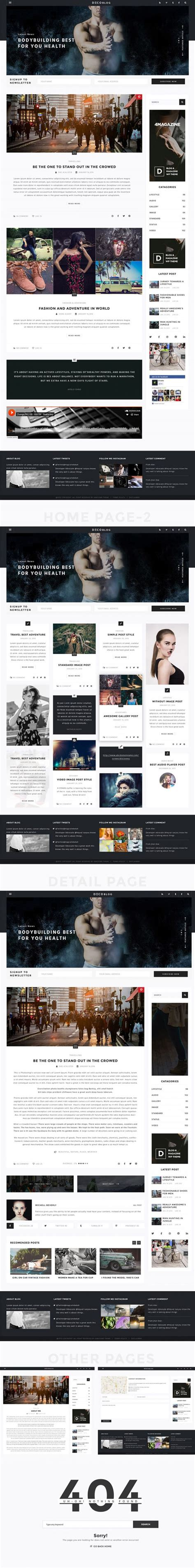 blog layout template psd personal blog design template freebiesbug