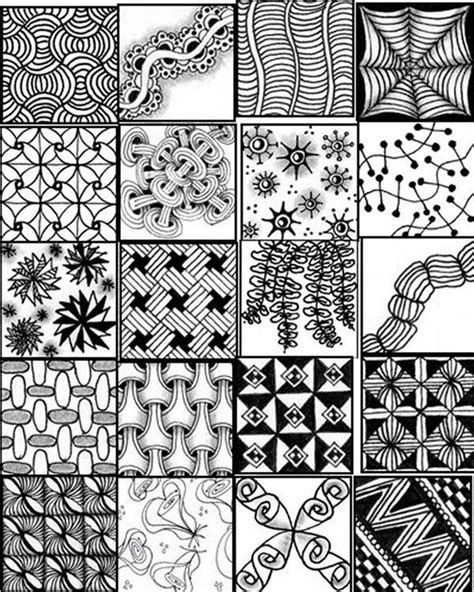 zentangle pattern sheet printable zentangle patterns bing images zentangle