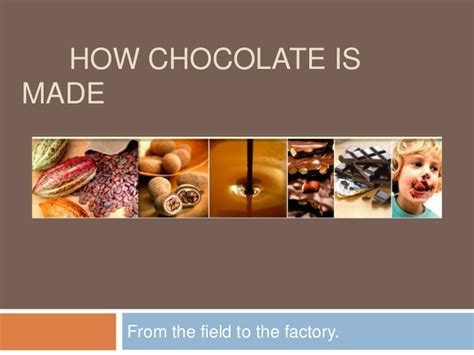 what is made of how chocolate is made