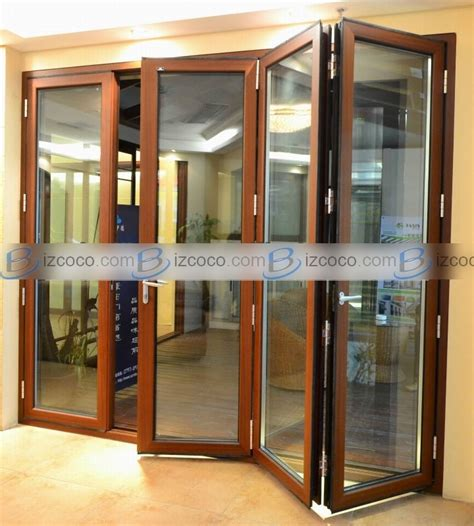 Bi Fold Patio Doors Aluminum Aluminum Bi Folding Door Folding Patio Doors Folding Exterior Doors China Trading