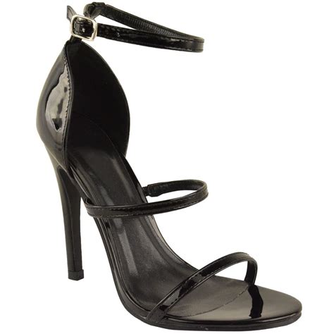 High Heels M41 63 womens ankle strappy high heels stiletto evening sandals shoes size ebay