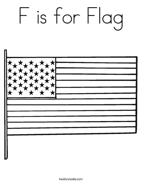 coloring pages american flag preschoolers f is for flag coloring page twisty noodle