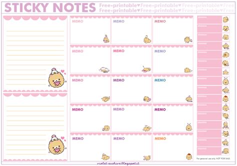 N Notes Pronto Note Sticker Warna Warni violet archive free printables san x sticky notes homekoro