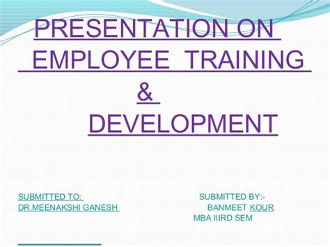 Mba Seminar Topics Ppt by Employee Development