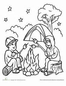 Campfire  Coloring Page Educationcom sketch template