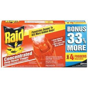 raid concentrated reach fogger 4 ct walmart
