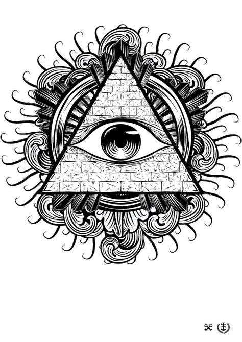 all seeing eye tattoo design black and grey illuminati eye stencil by e1