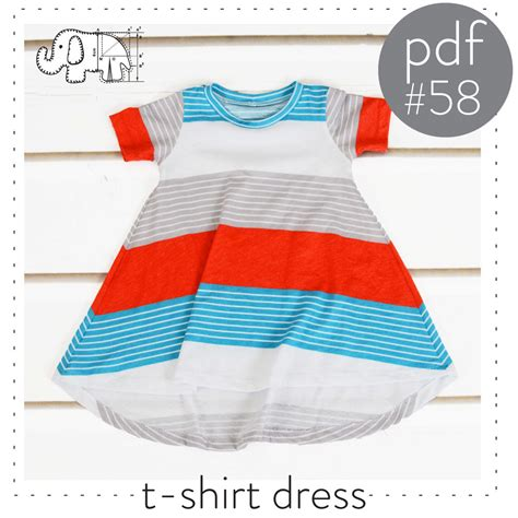 t shirt pattern pdf tshirt dress pattern flared curved hem pdf instant