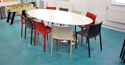 White Oval Meeting Table Meeting Tables Disc Oval Meeting Table Cogapp