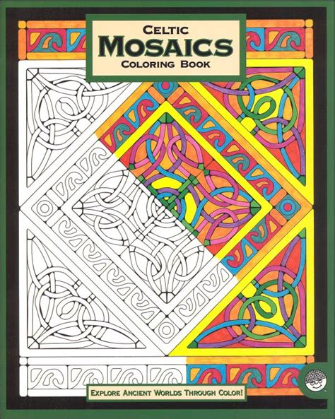 mosaic coloring books celtic mosaics coloring book 033746 details rainbow