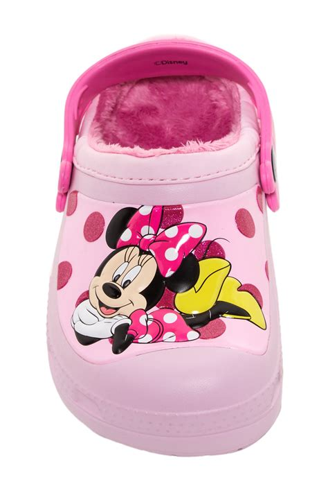 Ailubee Piyama Minnie Mouse Kidsz crocs minnie mouse glitter fleece lined clog toddler kid nordstrom rack