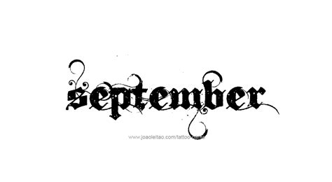 september tattoos designs september month name designs tattoos with names