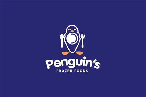 penquins frozen foods logo design logo cowboy
