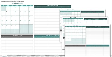 15 Free Monthly Calendar Templates Smartsheet Marketing Caign Calendar Template