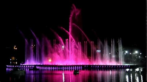 Water Fountain Light Show Colorfully Musically Synchronized Light Show