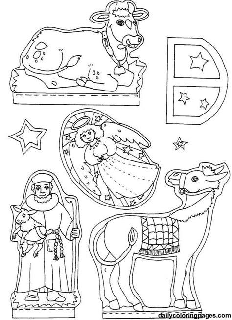 nativity diorama coloring pages edudicas dioramas do nacimento de jesus