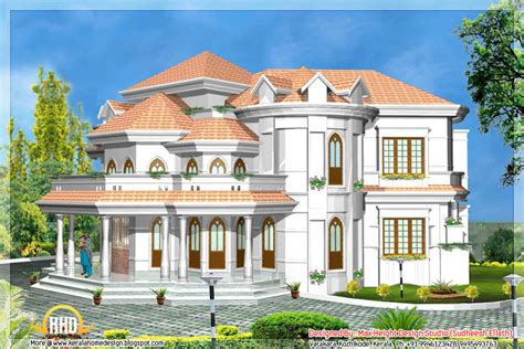 House Models Plans 5 Kerala Style House 3d Models Kerala Home Design And Floor Plans