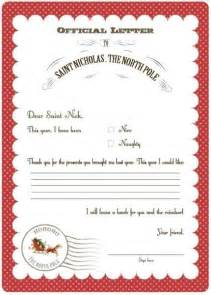 Official Letters From Santa Official Letters From Santa Sle Letter Template