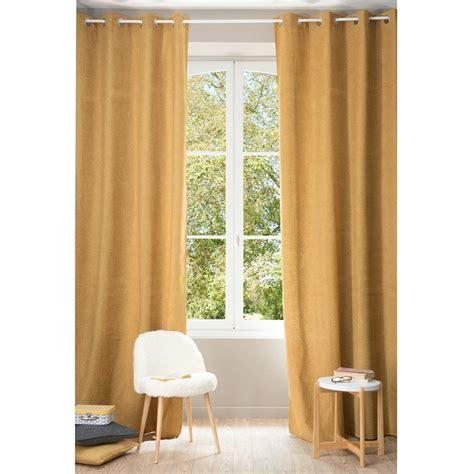 giallo tende tenda ocra giallo con occhielli 140 x 300 cm chenille