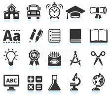imagenes en blanco y negro de utiles escolares educaci 243 n y negro 218 tiles escolares blanco conjunto de
