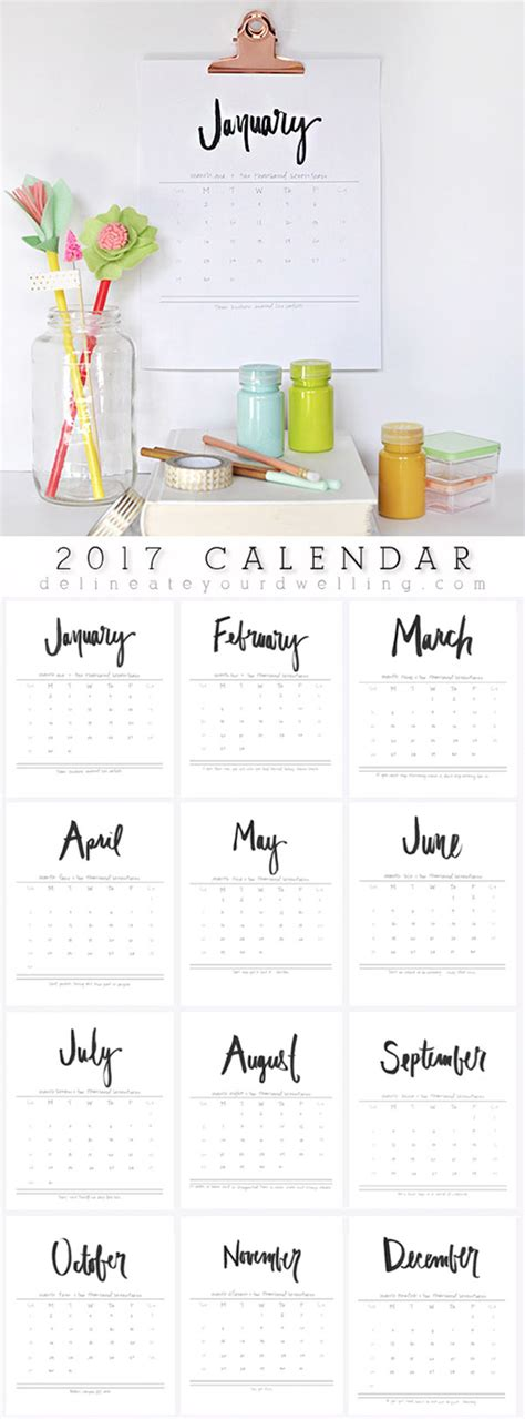 free printable 2017 wall calendar studio diy 25 free printable calendars