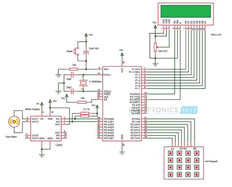 password based door lock system using 8051 microcontroller