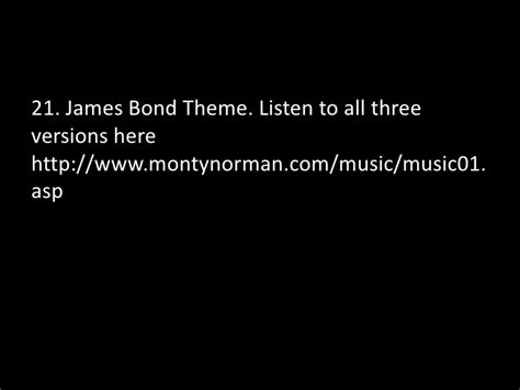 bond themes quiz sfbay quiz without audio