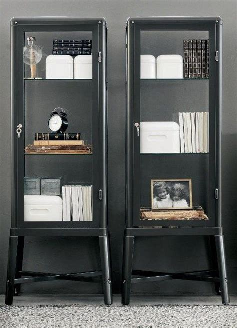 ikea fabrikor ikea fabrikor display cabinets in grey furniture pinterest industrial glasses and cabinets