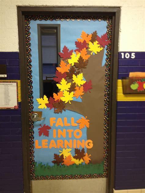 fall classroom door school fall classroom
