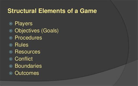 design elements of a game lafs game design 1 structural elements