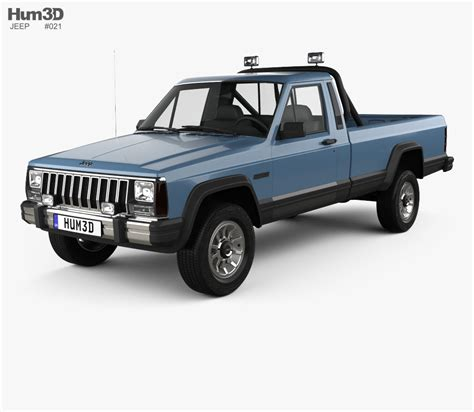 jeep comanche jeep comanche mj 1984 3d model humster3d