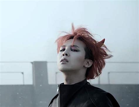 g dragon hairstyle history g dragon monster red hair soompi