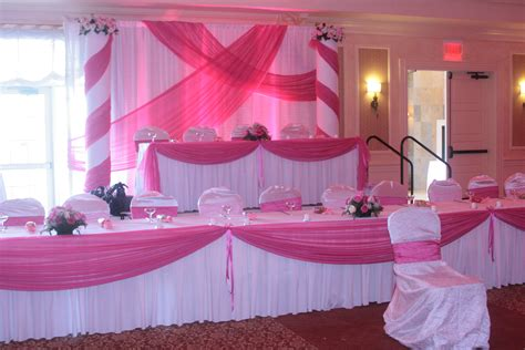 head table draping head table fabric draping and backdrop for pink theme quin