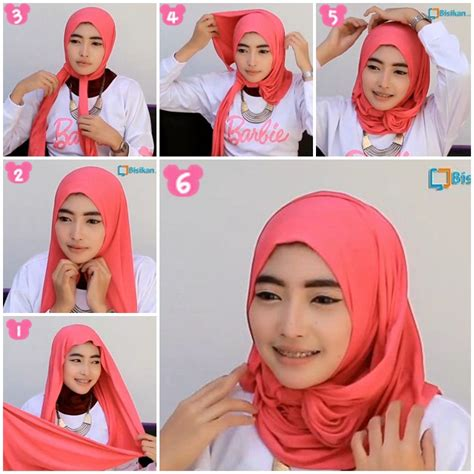 tutorial hijab ombre simple 18 tutorial hijab pashmina spandek simple knowledge