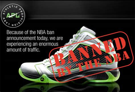 basketball shoes banned from nba athletic propulsion labs apl shoes banned by nba
