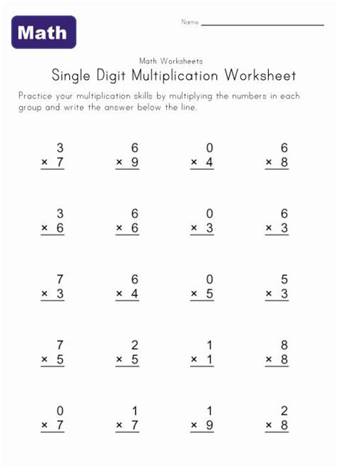 basic multiplication worksheet generator worksheets for