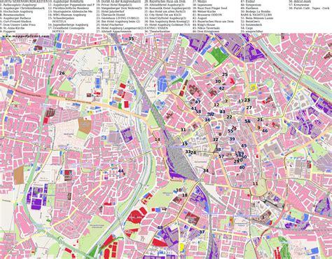 map augsburg germany city maps augsburg