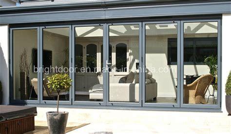 China Aluminum Alloy Folding Door Gates Price Cost Of Bi Fold Glass Doors Exterior Cost