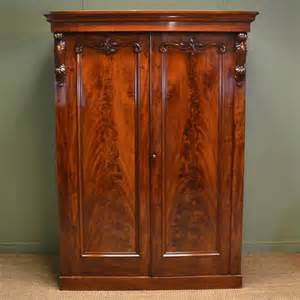 Antique Wardrobe by Magnificent Figured Mahogany Antique