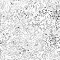 Galerry vintage flower coloring