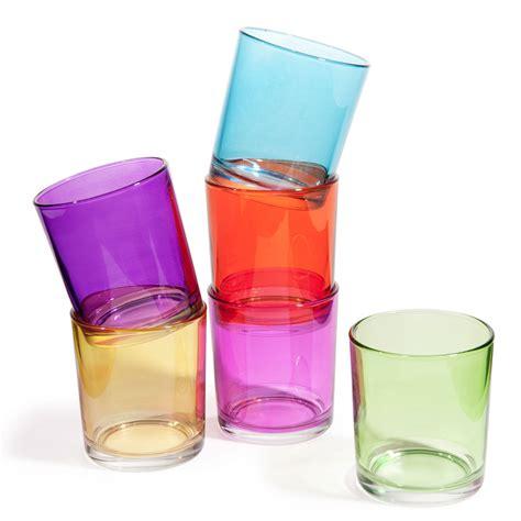 verre de 6 verres 224 eau en verre multicolores gipsy maisons du monde