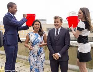 Taking A Cold Shower by Susanna Reid And Ben Shephard Perform The Als Ice Bucket