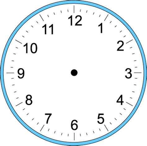 printable clock big blank clock