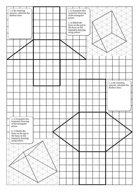 printable surface area nets search results for surface area worksheets with nets