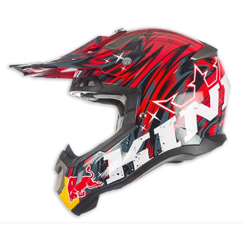 red bull helmet motocross kini red bull helmet revolution red 2018 maciag offroad