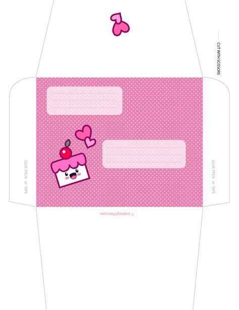 printable envelope decorations free kawaii cake envelope note papers